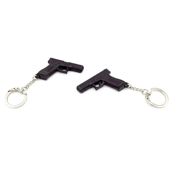 2 Plastic Glock Key Chains