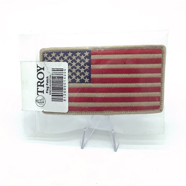 Troy American Flag Velcro Patch