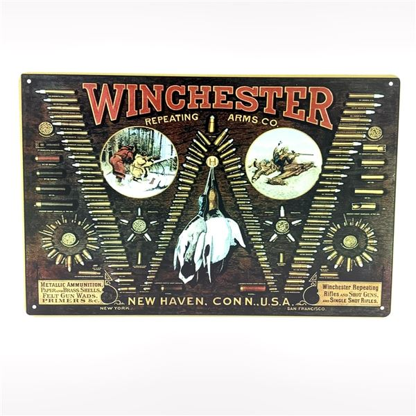 """Winchester Tin Sign 11 3/4"""" x 8"""""""