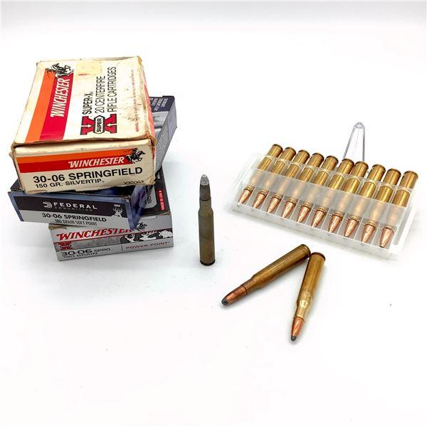Assorted 30-06 Sprg Ammunition - 48 Rnds