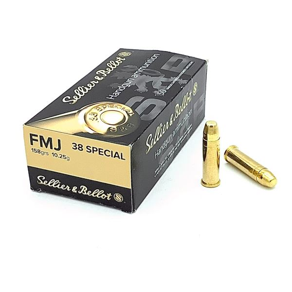 Box of Sellier & Bellot 38 Special, FMJ Ammunition - 50 Rnds