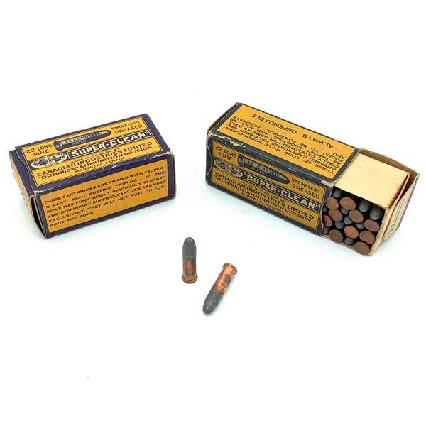 2 Boxes of Dominion 22 LR Ammunition - 100 Rnds