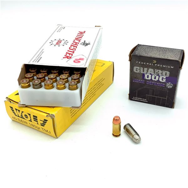 Assorted 40 S& W Ammunition - 89 Rnds
