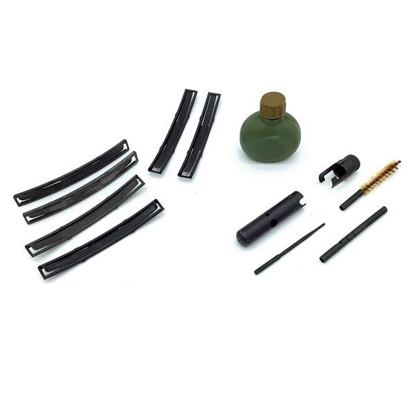Soviet SKS Buttstock Cleaning Kit, Stripper Clips & Chinese Surplus Oil Bottle