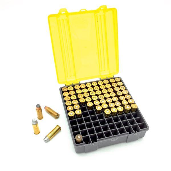 Assorted 44 Rem Mag Ammunition - 67 Rnds in Plano case