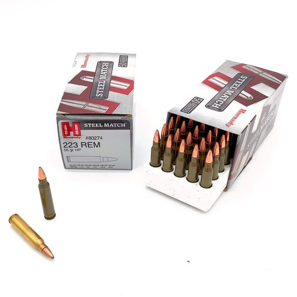 Assorted Hordany 223 Rem Ammunition - 80 Rnds
