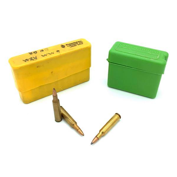 Assorted 6mm Rem Ammunition with Flambeau & MTM Case - 37 Rnds