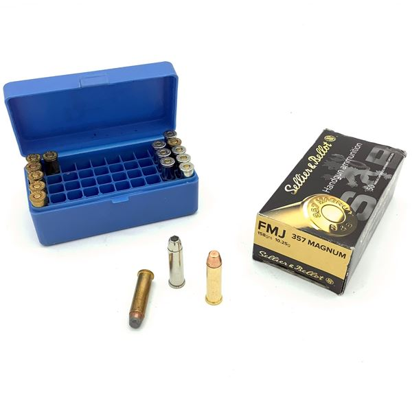 Assorted 357 Magnum Ammunition with Dillion Precision Ammo Case - 66 Rnds