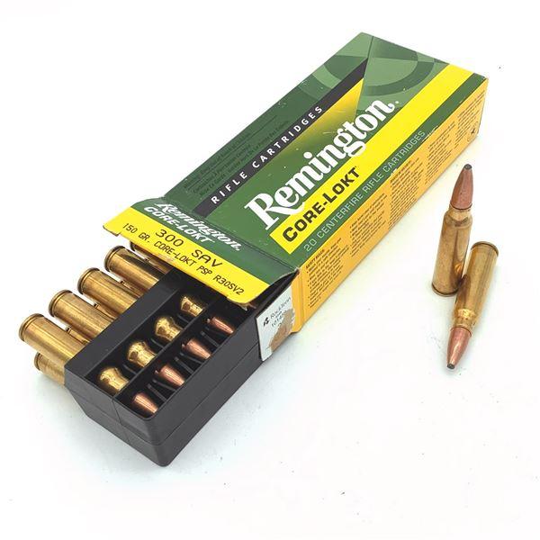 Remington 300 SAV 150gr Core-Lokt Ammunition - 20 Rnds