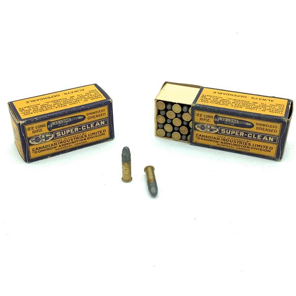 2 Boxes of Dominion 22 LR Super Clean Ammunition - 100 Rnds