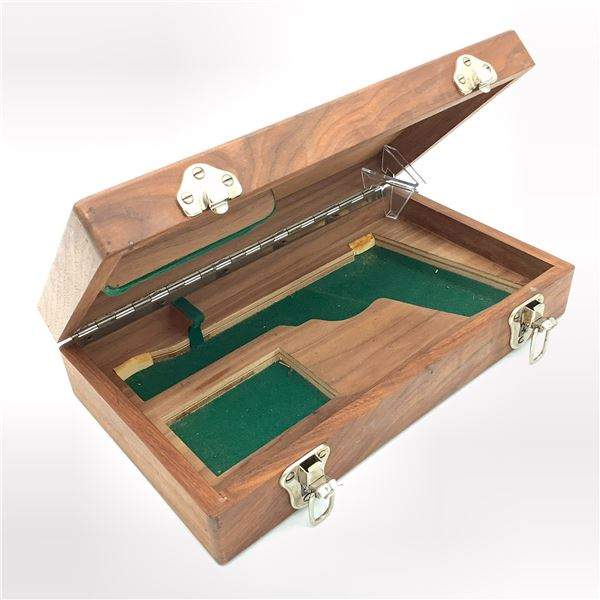 Wooden Revolver Display Case