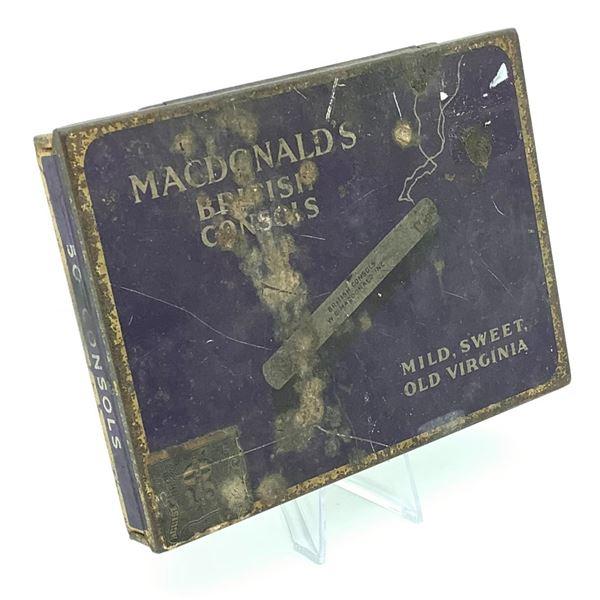 Vintage MacDonald's British Consols Cigarette Tin