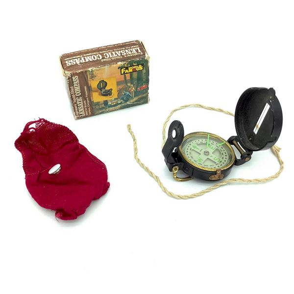 World Famous Engineers Liquid -Filled Lensatic Compass