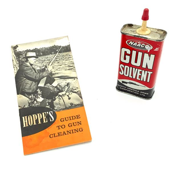Hoppe's Guide to Gun Cleaning & Empty Naaco Gun Solvent Can