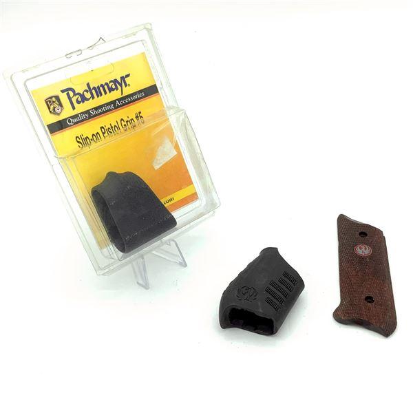 2  Slip-on Pistol Grips & Ruger Wood Grip (1/2)