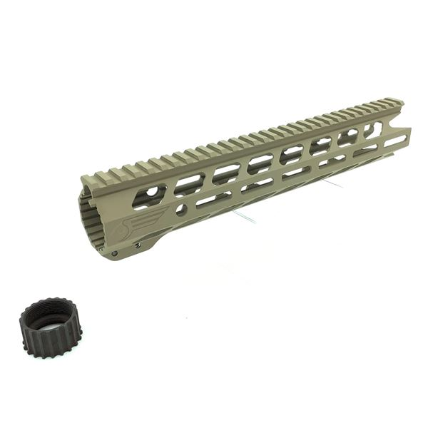 """Black Creek Labs 12"""" Q Rail for 5.56 in FDE"""