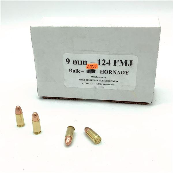 Wolf 9mm, 124 gr FMJ Ammunition - 176 Rnds