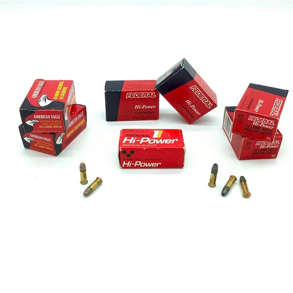 Assorted Federal  22 Rimfire Ammunition - 252 Rnds