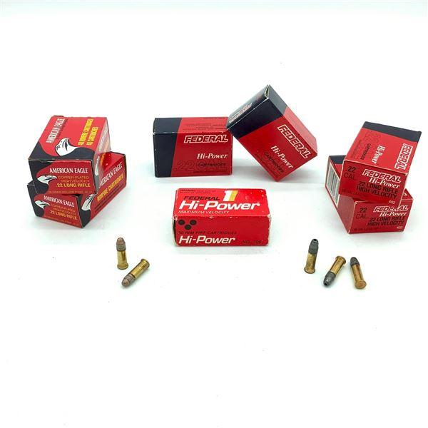 Assorted Federal  22 Rimfire Ammunition - 252 Rnds