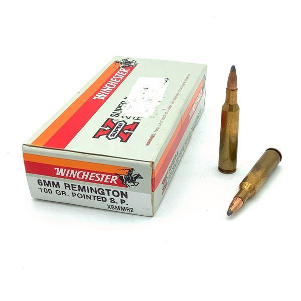 Winchester Super, X 6mm REM Ammunition - 20 Rnds