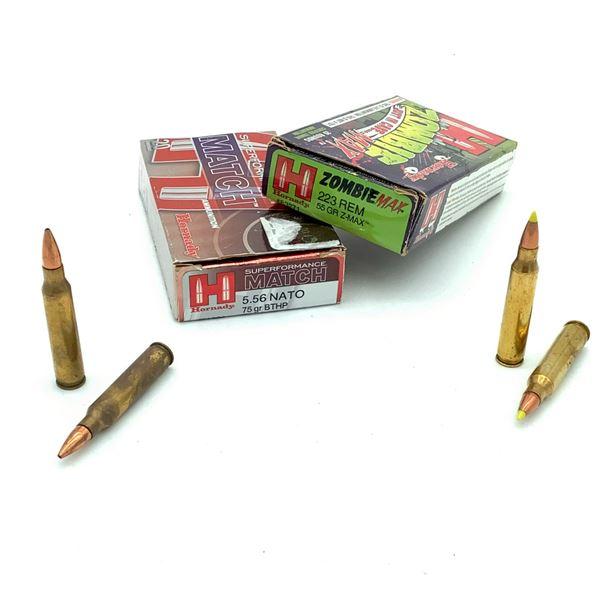 Assorted Hornady 223 Rem/5.56 Nato Ammunition - 40 Rnds