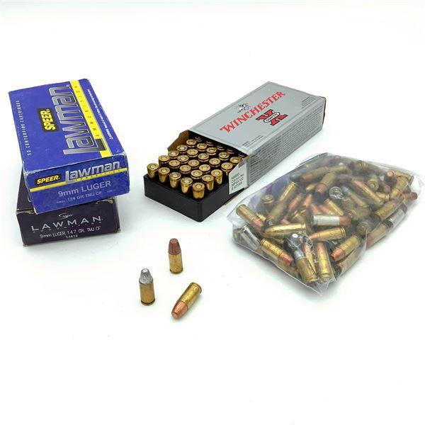 Assorted 9mm Luger Ammunition - 198 Rnds