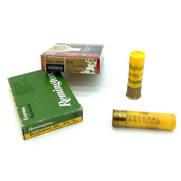 Assorted 20 Ga Buckshot Ammunition -  10 Rnds