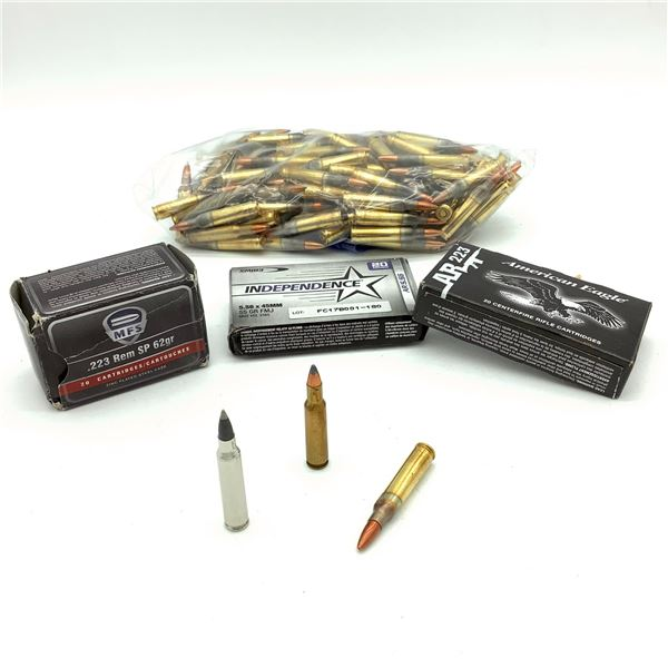 Assorted 223 Rem Ammunition - 195 Rnds