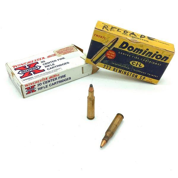 Assorted 222 Rem Ammunition- 34 Rnds