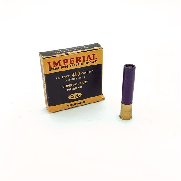Imperial 410 Ga Special Long Range Rifled Slugs - 5 Rnds