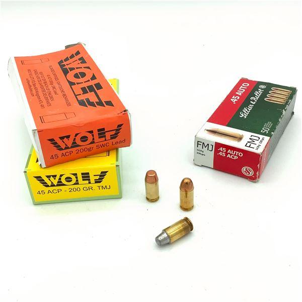 Assorted 45 ACP Ammunition - 132 Rnds