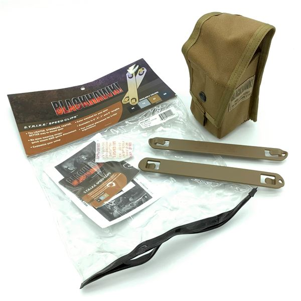 Blackhawk Double M14 Pouch with Divider & Speed Clips in Coyote Tan, New
