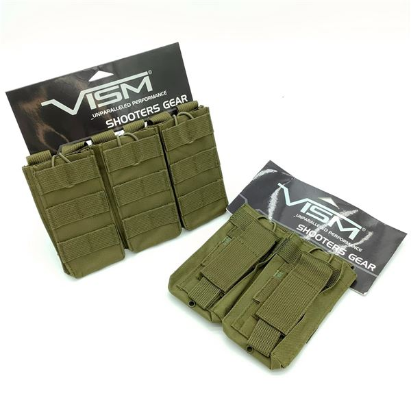 2 Vism Mag Pouches in O.D.Green, New