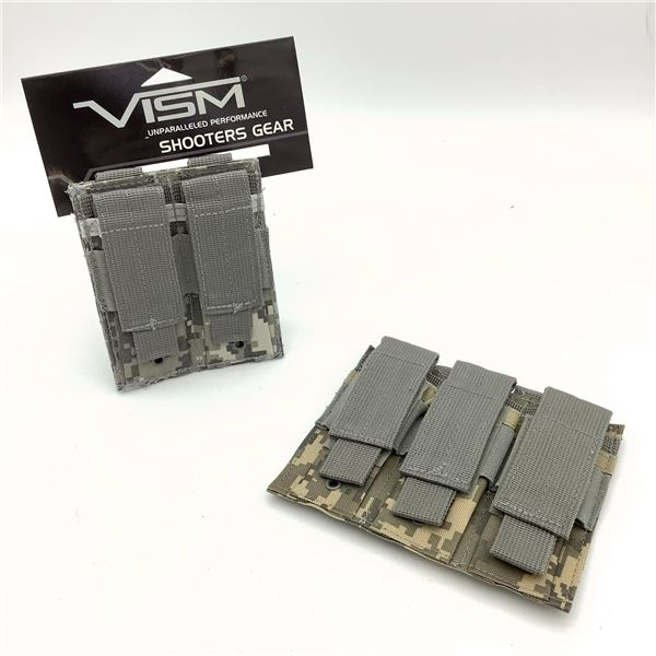 2 Vism Pistol Mag Pouches in Digital Camo, New