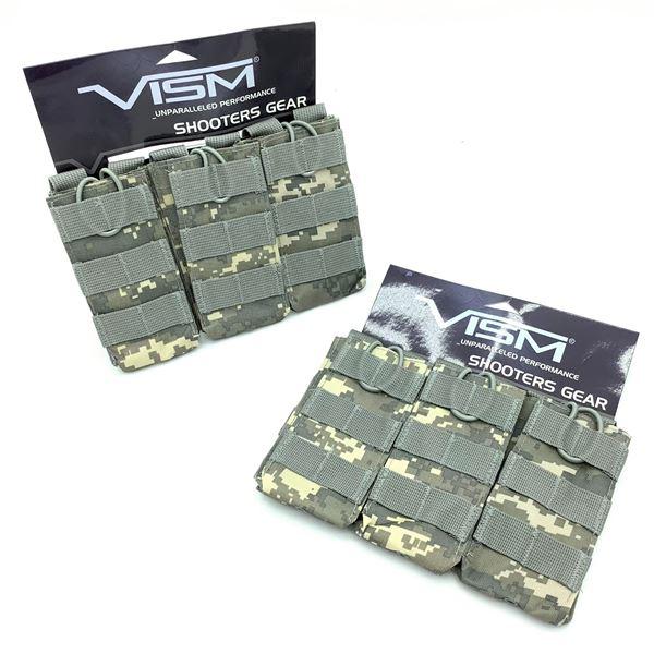 2 Vism Triple AR Mag Pouches - Digital Camo, New