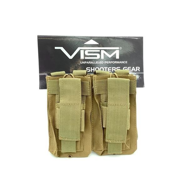 Vism Double AR & Pistol Mag Pouch in Tan, New