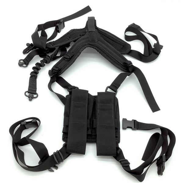 Tactical Chest Rig w/ Bungie Sling & Two AR15 Mag Pouches, New