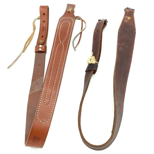 2 Assorted Leather Slings