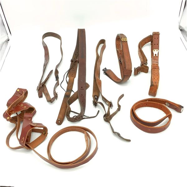 8 Assorted Leather Slings