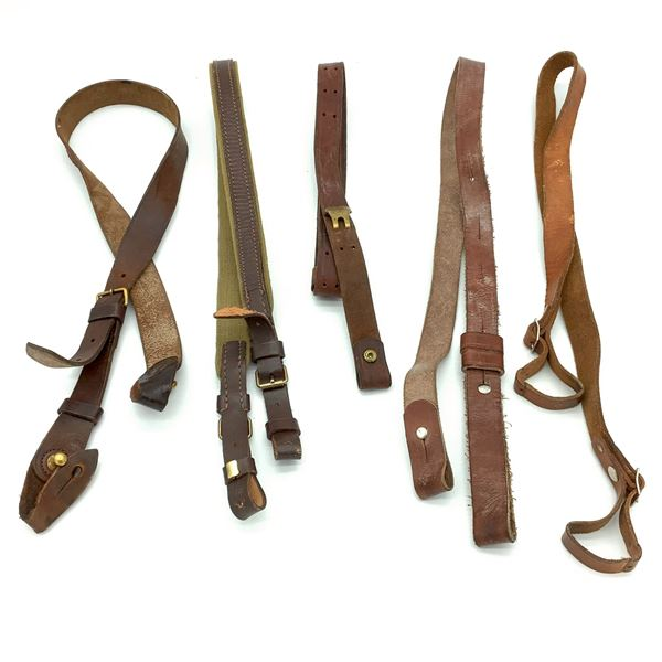 5 Assorted Leather Slings
