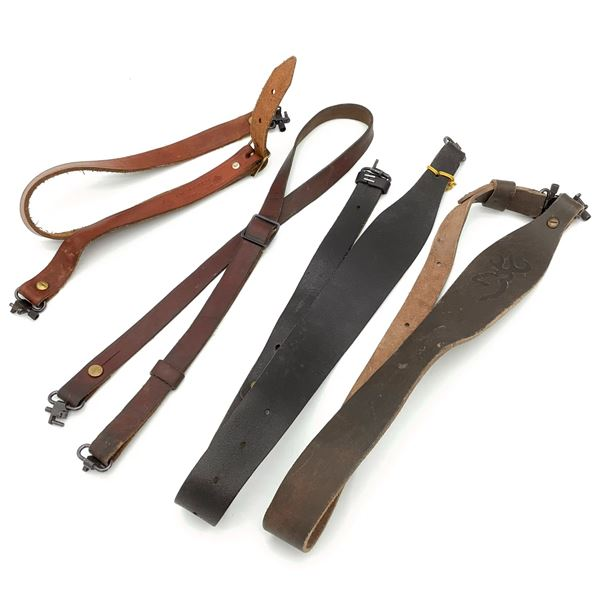 4 Assorted Leather Slings