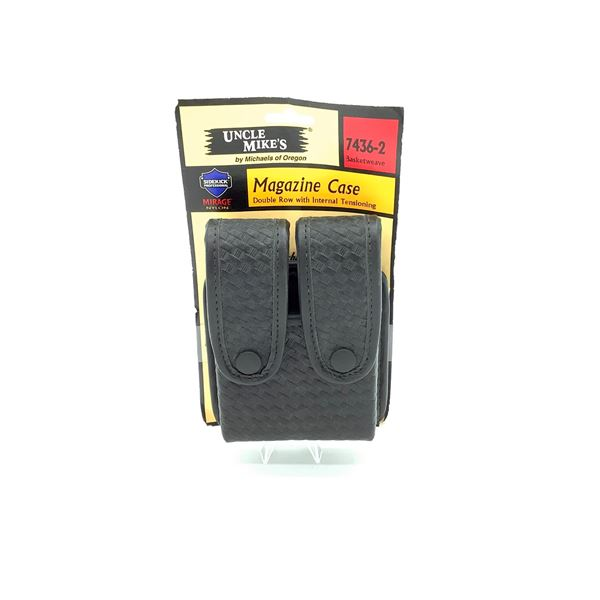 Uncle Mike's Double Magazine Case, New
