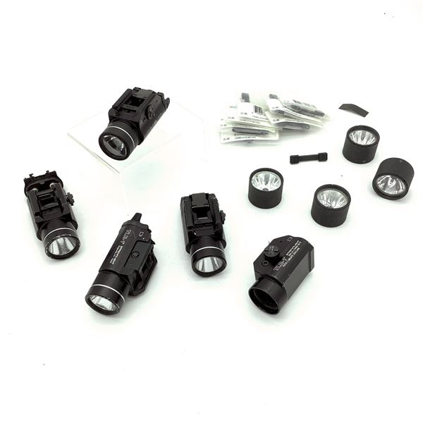 5 Streamlight TR1 Tactical Flashlights with Spare Parts & Accessories, Not Tested