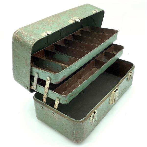 Antique Metal Tool & Tackle Box