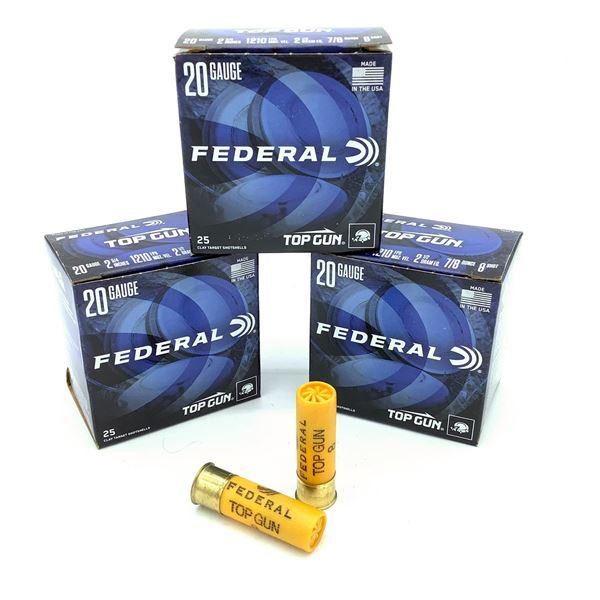 Federal 20 Ga Top Gun Ammunition - 75 Rnds