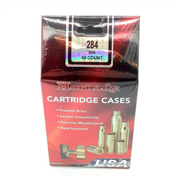 Hornady 284 Win Cartridge Cases - 50 Count, New