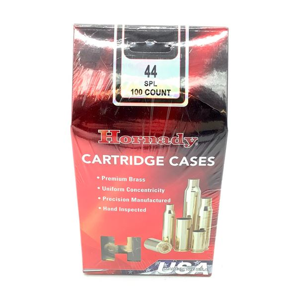 Hornady 44 SPL Cartridge Cases - 100 Count, New