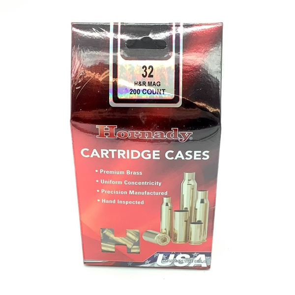 Hornady 32 H & R Mag Cartridge Cases - 200 Count, New