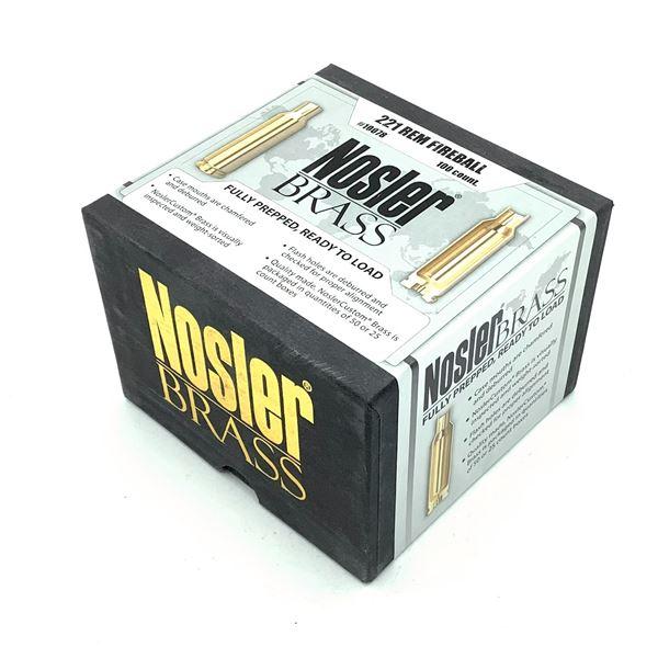 Nosler Brass Fully Prepped 221 Rem Fireball - 100 Count, New