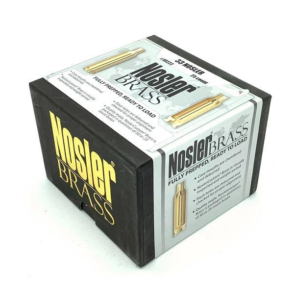Nosler Brass Fully Prepped 33 Nosler - 25 Count, New